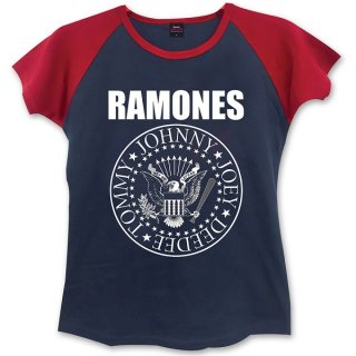 RAMONES Presidential Seal With Skinny Fitting Blk, レディースTシャツ