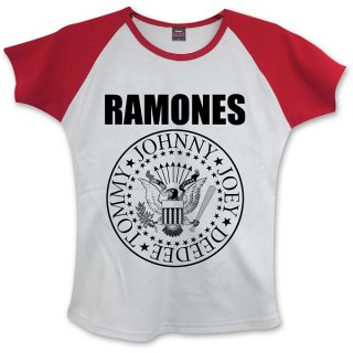 RAMONES Presidential Seal With Skinny Fitting, レディースTシャツ