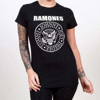 RAMONES Seal With Skinny Fitting, レディースTシャツ