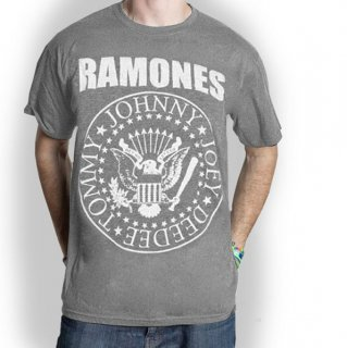 RAMONES Presidential Seal with Crack Ink Finishing, Tシャツ