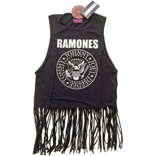 RAMONES Vintage Presidential Seal with Tassels 2, タンクトップ(レディース)