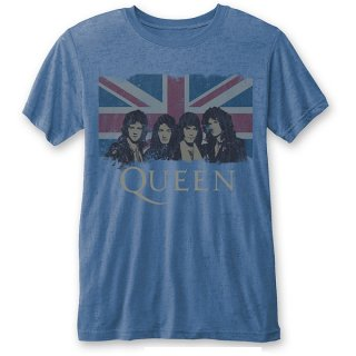QUEEN Vintage Union Jack (Burn Out), Tシャツ