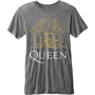 QUEEN Classic Crest (Burn Out), Tシャツ
