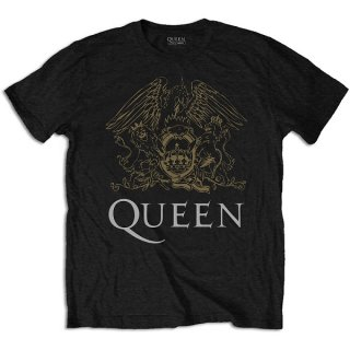 QUEEN Crest Blk, Tシャツ