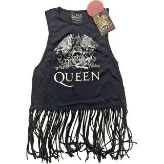 QUEEN Crest Vintage with Tassels 2, タンクトップ(レディース)