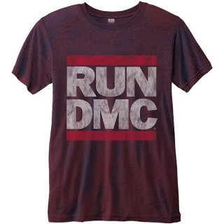 RUN DMC Logo Vintage With Burn Out Finishing, Tシャツ