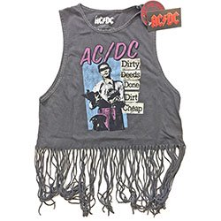 AC/DC Dirty Deeds Done Dirt Cheap with Tassels, タンクトップ(レディース)
