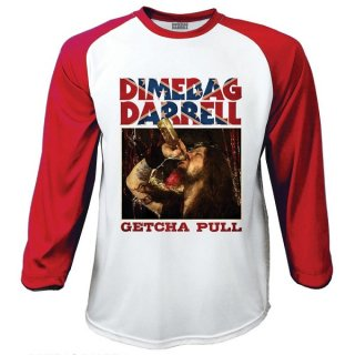 DIMEBAG DARRELL Getcha Pull, ラグランロングTシャツ