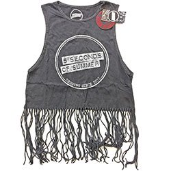 5 SECONDS OF SUMMER Derping Stamp Vintage with Tassels 2, タンクトップ(レディース)