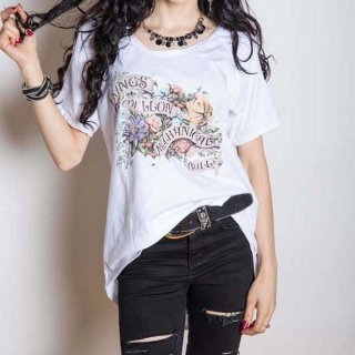 KINGS OF LEON Flowers with Cut-outs, レディースTシャツ
