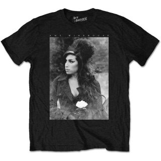 AMY WINEHOUSE Flower Portrait, Tシャツ