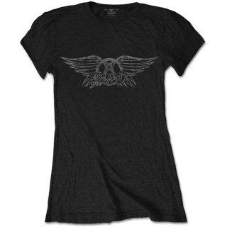 AEROSMITH Vintage Logo, レディースTシャツ