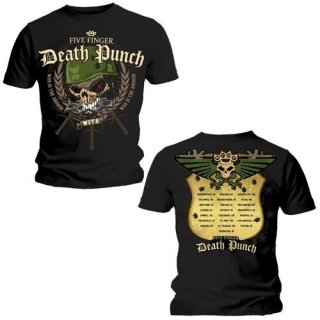 FIVE FINGER DEATH PUNCH War Head with Back Printing, Tシャツ