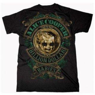 ALICE COOPER Billion Dollar Baby Crest, Tシャツ