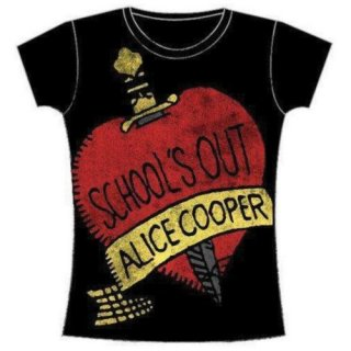 ALICE COOPER School's Out with Skinny Fitting, レディースTシャツ
