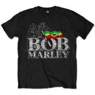 BOB MARLEY Distressed Logo, Tシャツ