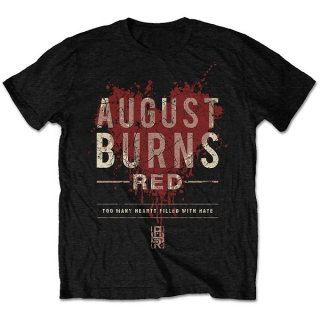AUGUST BURNS RED Hearts Filled, Tシャツ