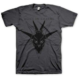 ALICE IN CHAINS Black Skull, Tシャツ