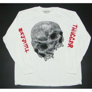 YOUNG THUG Thugger Skull White, ロングTシャツ