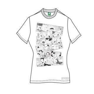 MOOMINS Moomin Falls In Love Comic Strip, レディースTシャツ