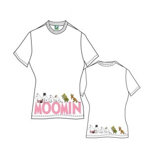 MOOMINS Moomins & Logo with Back Printing, レディースTシャツ