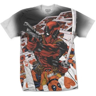 MARVEL COMICS Deadpool Cards with Sublimation Printing, Tシャツ