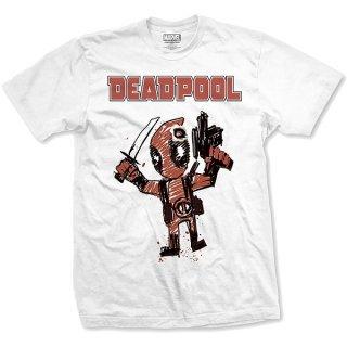 MARVEL COMICS TeeDeadpool Cartoon Bullet, Tシャツ
