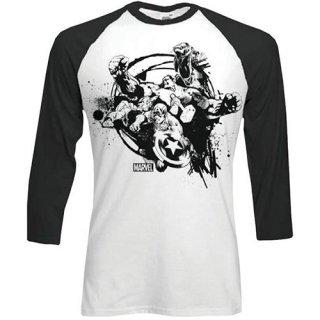 MARVEL COMICS Mono Chaos, ラグラン七分袖シャツ
