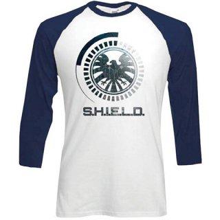 MARVEL COMICS S.H.I.E.L.D Symbol, ラグランTシャツ