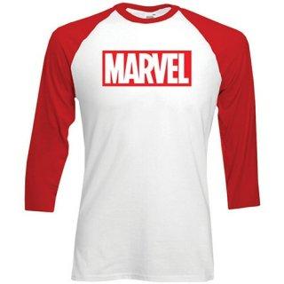 MARVEL COMICS Marvel Logo, ラグラン七分袖シャツ