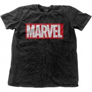 MARVEL COMICS Vintage Logo with Snow Wash Finishing, Tシャツ