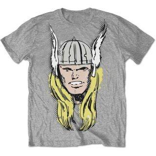 MARVEL COMICS Thor Big Head Distressed, Tシャツ
