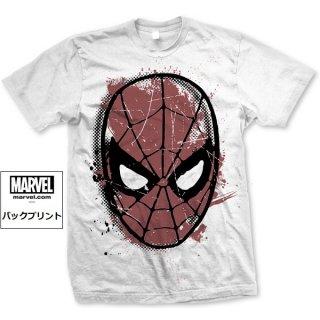 MARVEL COMICS Spidey Big Head Distressed, Tシャツ