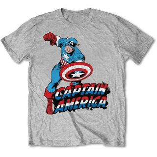 MARVEL COMICS Simple Captain America, Tシャツ