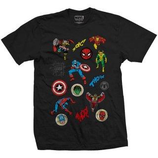 MARVEL COMICS Random Badges, Tシャツ