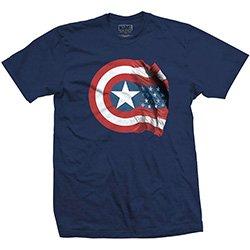 MARVEL COMICS Captain America American Shield, Tシャツ