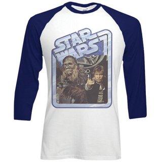 STAR WARS Chewie & Hans, ラグラン七分袖シャツ