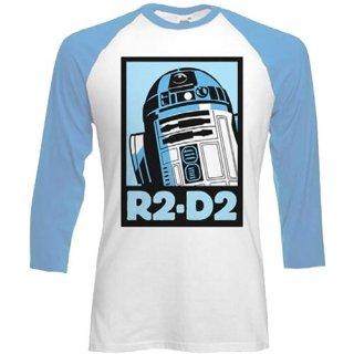 STAR WARS R2-D2, ラグラン七分袖シャツ