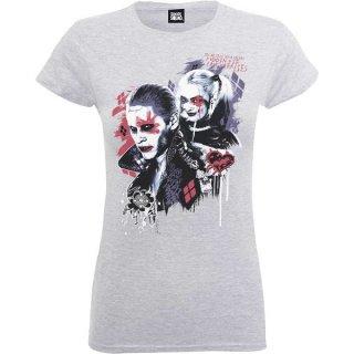 DC COMICS Suicide Squad Harley's Puddin Grey, レディースTシャツ