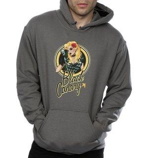 DC COMICS Bombshells Black Canary Badge Chgrey, パーカー