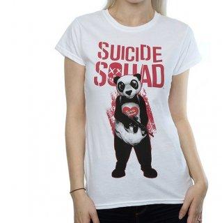 DC COMICS Suicide Squad Joker Panda White, レディースTシャツ