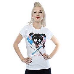 DC COMICS Suicide Squad Harley Quinn Skull Emblem, レディースTシャツ