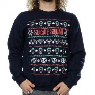 DC COMICS Suicide Squad Joker & Harley Quinn Christmas, スウェットシャツ