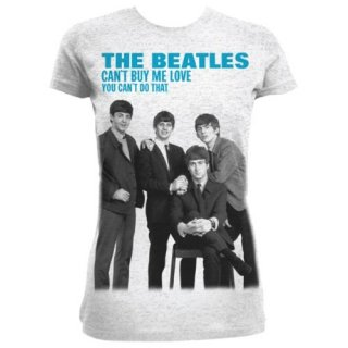 THE BEATLES You can't buy me love/grey, レディースTシャツ