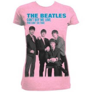 THE BEATLES You can't buy me love/pink, レディースTシャツ