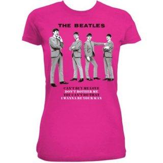 THE BEATLES You can't do that/Fushia pink, レディースTシャツ
