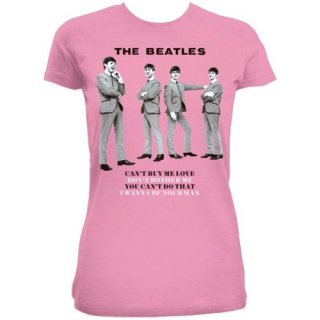 THE BEATLES You can't do that/pink, レディースTシャツ