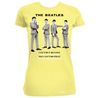 THE BEATLES You can't do that/yellow, レディースTシャツ