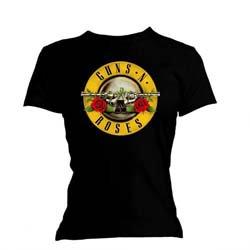 GUNS N' ROSES Classic Bullet Logo with Skinny Fitting, レディースTシャツ