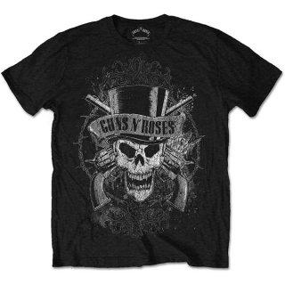 GUNS N' ROSES Faded Skull, Tシャツ